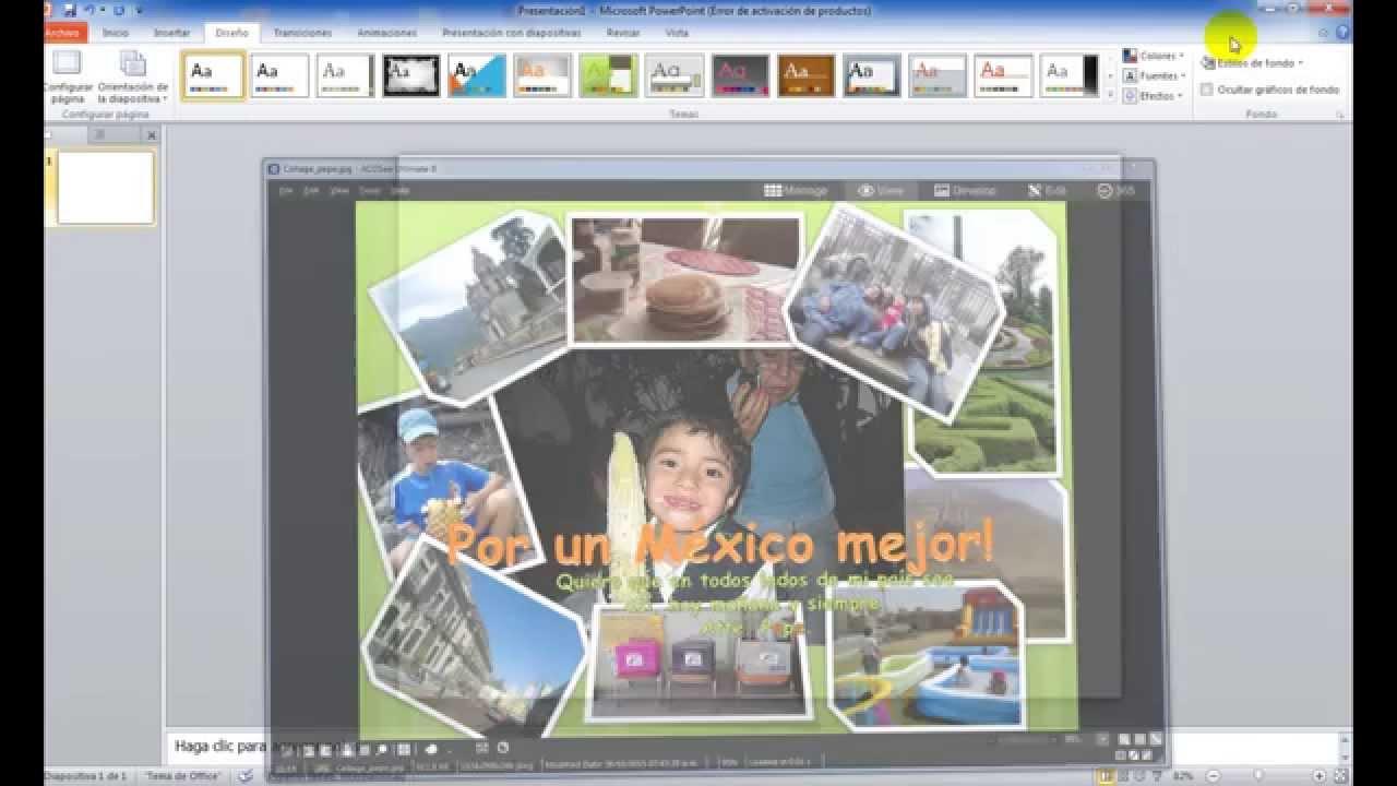 C mo hacer un collage en power point youtube - Como hacer un collage de fotos a mano ...