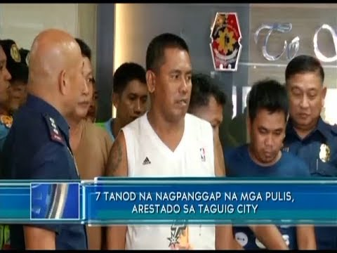 7 tanod na nagpanggap na mga pulis, arestado sa Taguig City