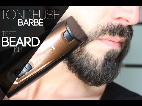 tailler sa barbe tondeuse test remington beard kit youtube