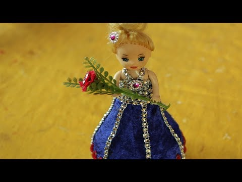 DIY Craft Ideas with Waste Material || How to make dress for doll | art for kids hub - Barbie Dolls