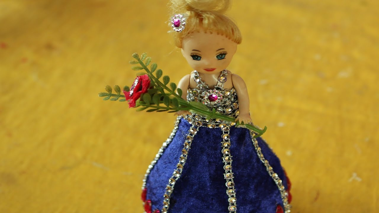 Diy Craft Ideas With Waste Material How To Make Dress For Doll Art For Kids Hub Barbie Dolls