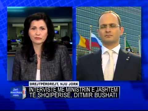 Ministri Ditmir Bushati interviste per Zerin e Amerikes