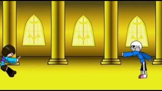 Санс против Чары.Рисуем мультфильмы