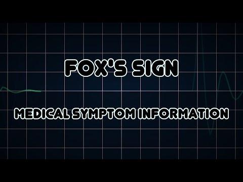Fox's sign (Medical Symptom)