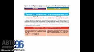 Различия в ПДД - проезд перекрестков, приоритет маршрутных транспортных средств