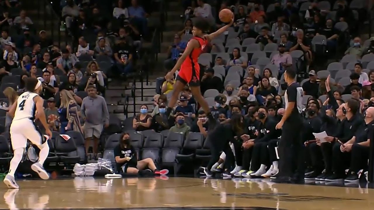 Jalen Green will be the first NBA player to attempt a dunk from the 3pt line 🤭