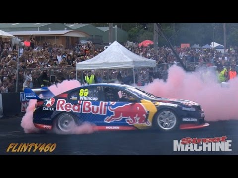 Jamie Whincup's Red Bull V8 Supercar Burnout at Summernats 29