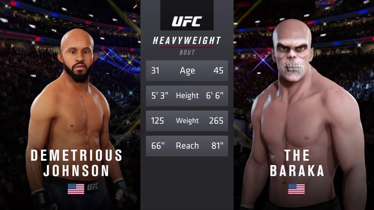 Download Demetrios Johnson vs. Baraka (EA sports UFC 3) - CPU vs. CPU - Crazy UFC 👊🤪