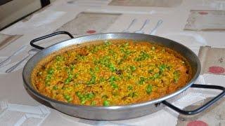 Рис с кальмарами и креветками. Испанская кухня