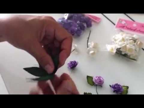 Making a haku lei floral hat band with paper flowers paper making a haku lei floral hat band with paper flowers paper leaves youtube mightylinksfo