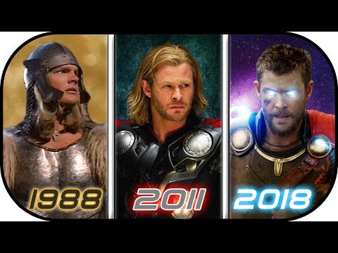 EVOLUTION of THOR in Movies 1988-2018 History of Thor Avengers Infinity War