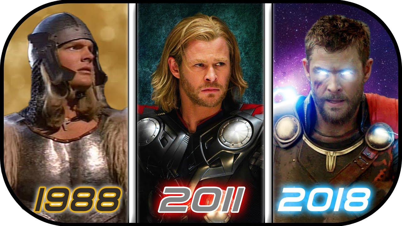 Evolution Of Thor In Movies 1988 2018 History Of Thor