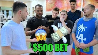 $500 BASKETBALL GAME vs YOUTUBERS! LOSER PAYS $500! (Cash Nasty, LSK & more)!