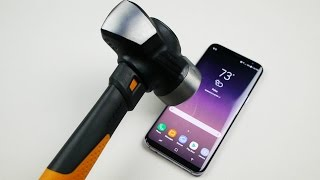 Samsung Galaxy S8 Plus Hammer & Knife Scratch Test thumbnail