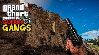 GTA V GUERRA DE GANGS - TOMANDO A FAVELA DO MORRO! #51