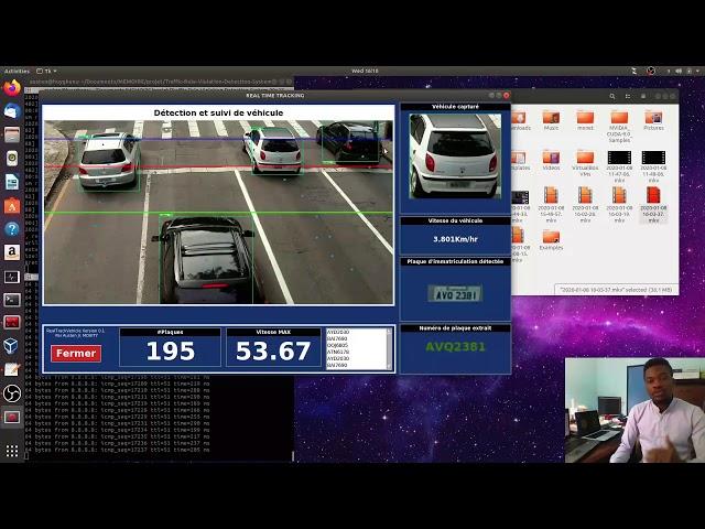 Détection de plaque d'immatriculation dans un flux vidéo (Real Track Vehicle)