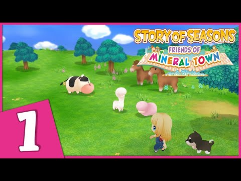 Let&39;s Play Story of Seasons: Friends of Mineral Town 1  Meeting the Townsfolk