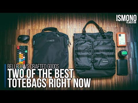 Two of the best Tote bags right now. BELLROY VS CRAFTED GOODS