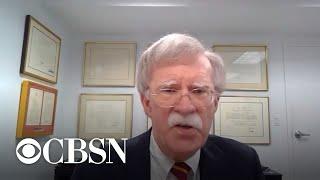 "Bolton: ""I have regrets"" about impeachment process"