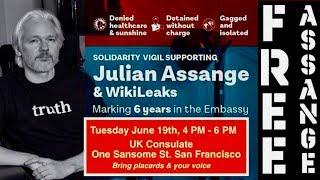 Free Julian Assange #Unity4J Event UK Consulate, San Francisco CA