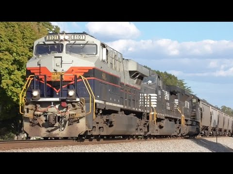 [3q] Exceptional: 12 Trains with Power of 5 Class I Railroads, Around Atlanta, 10/19/2016 ©mbmars01