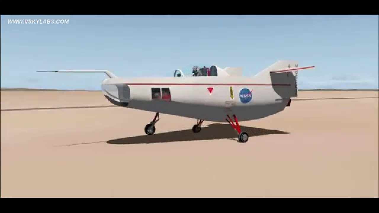 VSKYLABS   NASA M2-F1 Lifting Body glider   X-Plane 10 ...