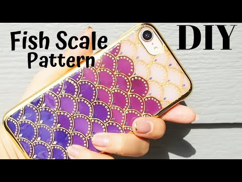🌹eng》how-to-make-a-scale-pattern-iphone-case!/uvresin/vitrail