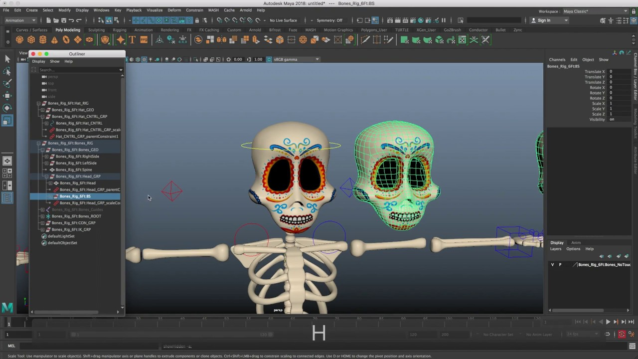 Free Animation Rig Maya Demo -