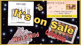 It's On Sale : Wet N Wild Brush Set $15 | Colourpop Build your Own Palette