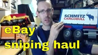 Huge Haul of Britains & Bruder Toy Tractors, Trucks & JCB's - Ebay sniping