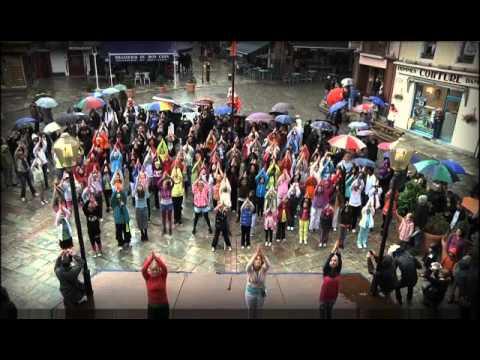 Bourg saint maurice fait son flash mob