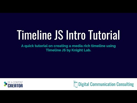 Timeline JS Intro Tutorial