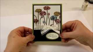 Stained Glass Technique with Stampin' Up Pleasant Poppies
