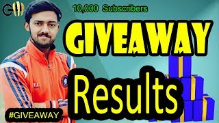 Live Result Announcement of Give Away on Completing 10k Subscribers