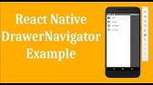React Native Drawer Navigator Example - Custom
