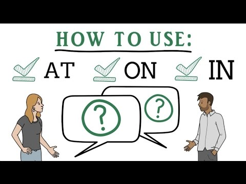 Difference between IN, ON and AT