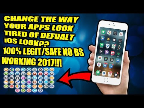 CHANGE THE WAY YOUR APPS LOOK COMPLETELY!! TIRED OF LAME STOCK DESIGN OF iOS 10??NOW WORKING 2017!!