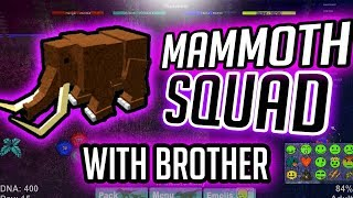 THE MAMMOTH SQUAD w/ brother!!! | Dinosaur simulator | Roblox