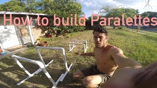 How to Make Parallettes (mini parallel bars) for Home Calisthenic Workouts