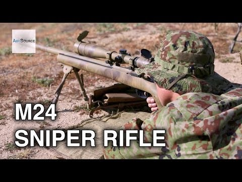 US Marines, JGSDF Shooting Drills. M24 Sniper Weapon System.