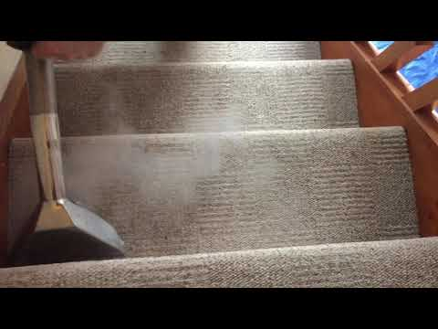 Stairs & Landing being professionally cleaned by Elite Cleaning Services