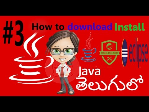 Java,Eclipse,Spring Tool Suit Download and installation in Telugu #3