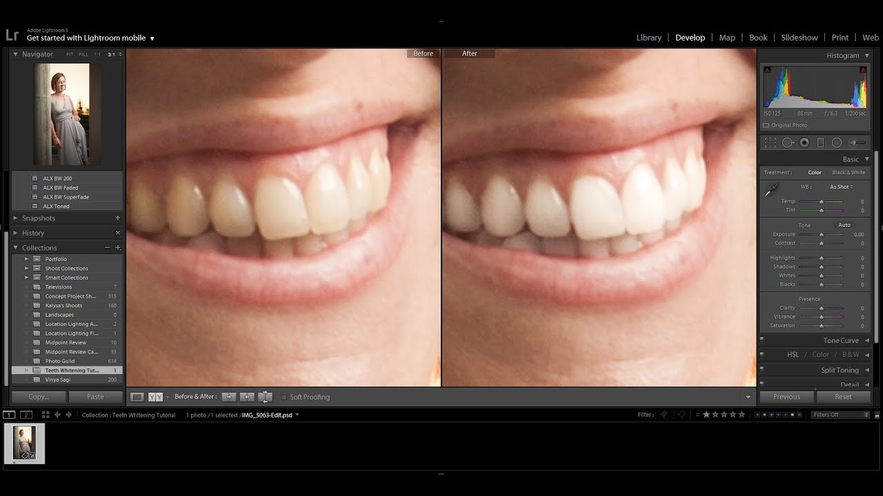 Whitening Teeth In Adobe Lightroom 5 Youtube