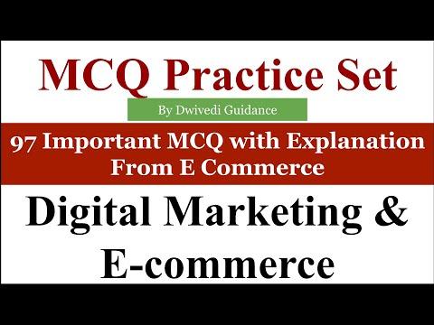 97 MCQ | Digital Marketing and E Commerce MCQ | E Commerce MCQ | digital marketing MCQ | aktu