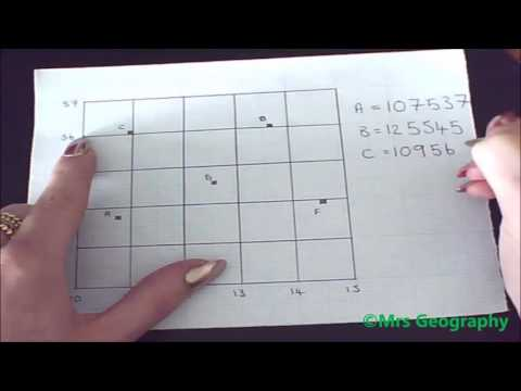 How to find a six figure grid reference