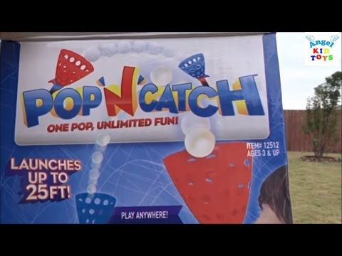 Family outdoor fun game pop n catch