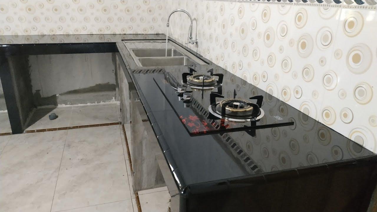 Meja Dapur Minimalis Hitam Model Mewah Terbaru Kitchenset Model Mewah Granite Marble For Kitchen Youtube