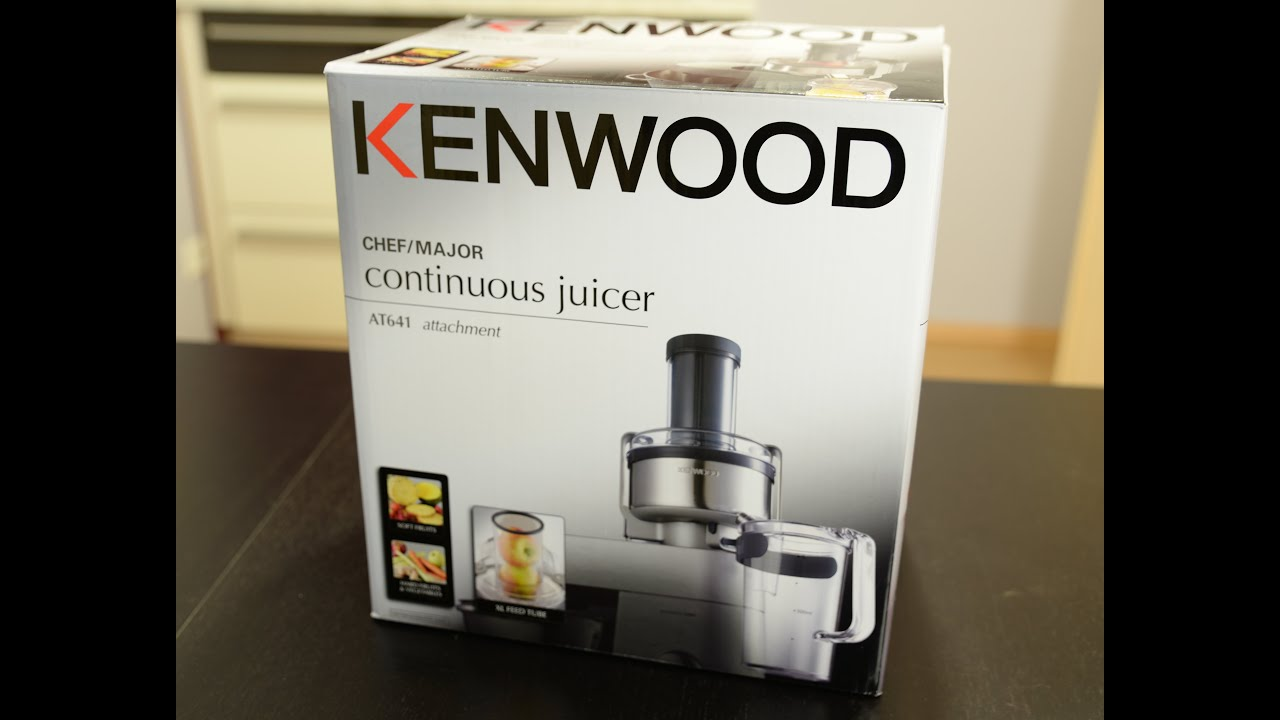 kenwood cooking chef entsafter at641 unboxing youtube. Black Bedroom Furniture Sets. Home Design Ideas