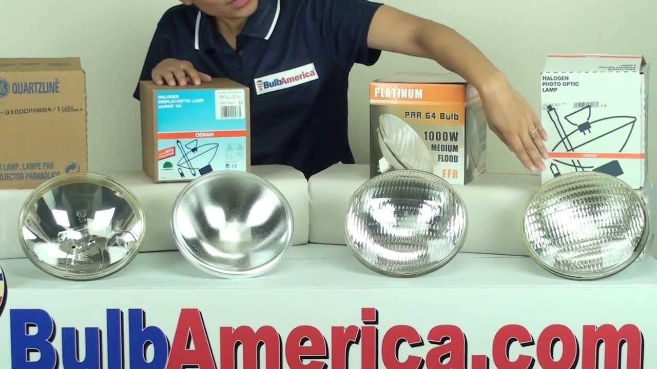 1000 watt par64 light bulb differences youtube