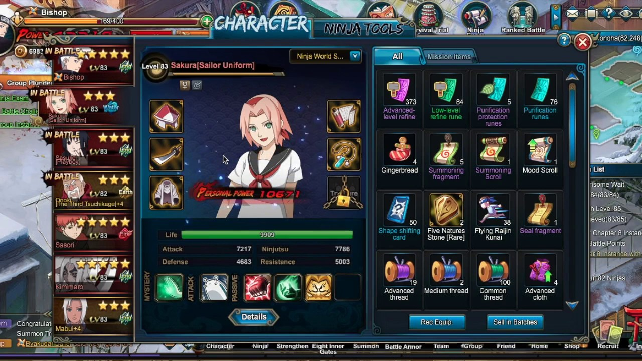 Naruto Online - Sailor Sakura Review - YouTube